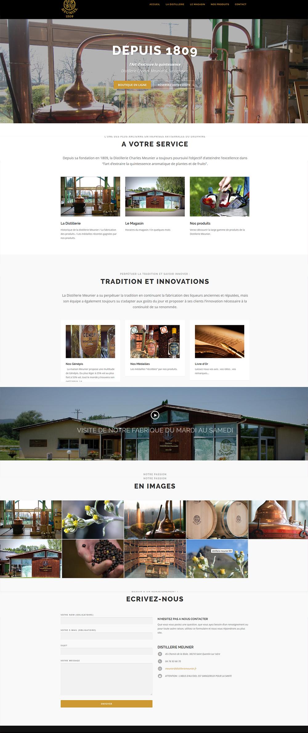 site web distillerie meunier